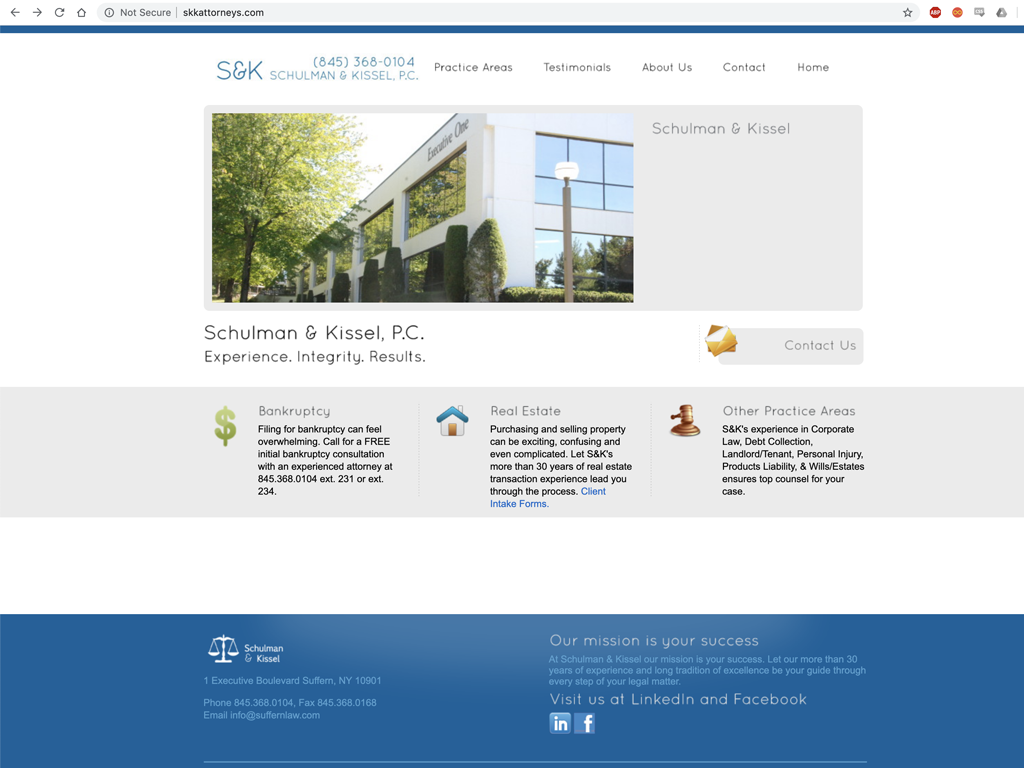 clean design for professional services